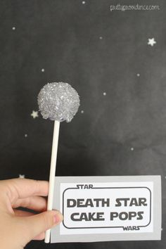 death star cake pops | star wars themed party, food, decor and kids games on pretty providence