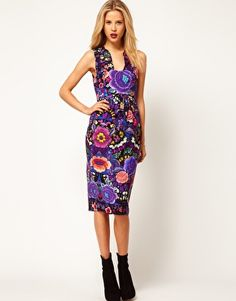 Enlarge ASOS Midi Dress In Empire Floral Print @Sierra Hall???~~~~ like this one???