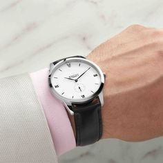Knight Timepiece KTPM111 silver white black wrist table