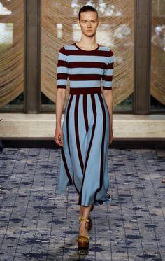 Gabriela Hearst-nyfw-04 платье, полоска