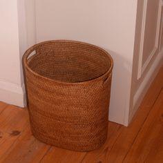 Oval waste paper basket with metal liner from kosmopolitan.co.uk