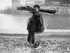 'Female chimney sweep, London, 1930'