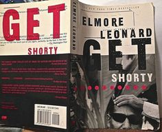 Get Shorty, Elmore Leonard, 1st edition paperback 1998 crime-caper pulp fiction
