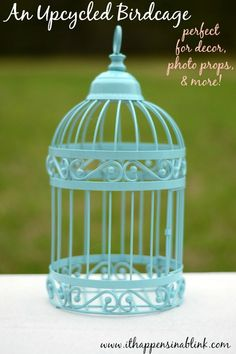 f880ed9668 An Upcycled Birdcage- a little spray paint goes a long way when improving  home decor