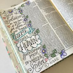 "Acts 4:12 ~ ""There is salvation in no one else... For there is no other name under heaven given among men by which we must be saved..."" ❤️JESUS #ourgratefulhearts #illustratedfaith #biblejournaling #journalingbible #acts #noothername"