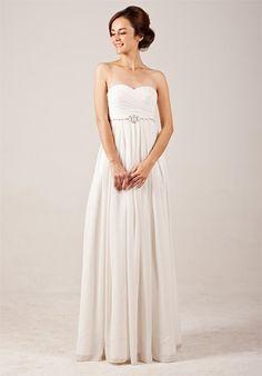 Elegant Sweetheart Empire Flowing Wedding Dress with Beadings from Weddingdress Bee