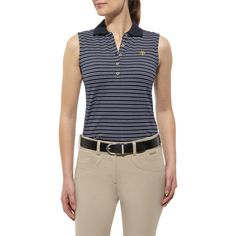 0b578dcd1911f7 Ariat Ladies Prix Sleeveless Polo Shirt  59.95  Ariat www.horsetackco.com  Equestrian Outfits