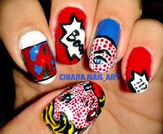 Pop Nail Art    LOVE!!!!!!!!!!!!!!!!!