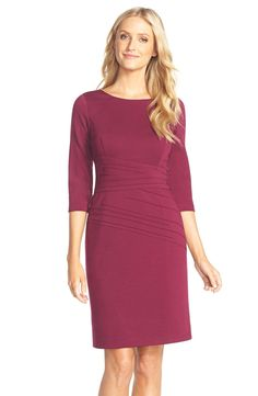 Ellen Tracy Seamed Ponte Sheath Dress (Regular