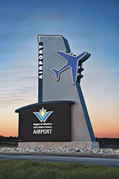 Another Great Job by Sun Signs!!! WWW.SUNSIGNS.CA Waterloo Airport Pylon Sign - Concept and Design by Sun Signs Design Team