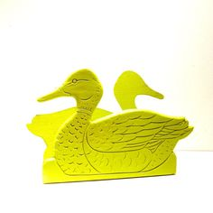 vintage duck napkin holder  //  neon