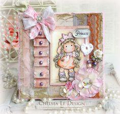 Magnolia Card-Princess Party Tilda