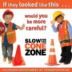 """CDOT """"Slow for the Cone Zone"""" ads depict kids as construction workers 
