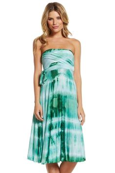 Get lucky with this strapless dress for St. Patty's Day #tyedye #strapless #stpatricksday
