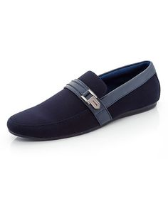 This Navy Buckle-Accent Robert Loafer is perfect! #zulilyfinds