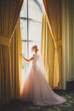 Beautiful bride at The Grand America Hotel.