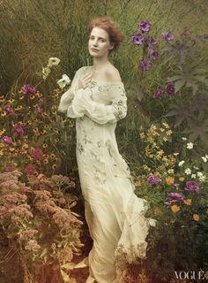 jessica annie leibovitz3 More Photos of Jessica Chastain for Vogue by Annie Leibovitz