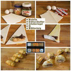 Croissants mit Nutella