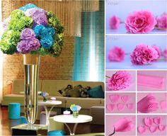 Gigi Costha: Flores de Papel Crepom para decoração de ambientes                                                                                                                                                                                 Mais