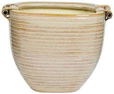 Pennington Dcor New England Pottery Rounded Square Planter 11 Frappuccino Light -- For more information, visit image link.