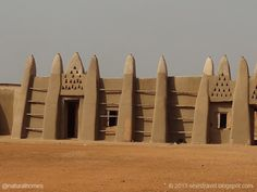 This is Naa's Palace in Wa, Ghana. Because of continued invasions and raids from other groups the people of the region, the Wala, developed their characteristic fortress-type houses. The building is built in the traditional style from sun dried mud-brick (adobe) walls and Y-shaped wooden columns supporting flat roofs made of a bush pole framework covered with mud. More at www.naturalhomes.org