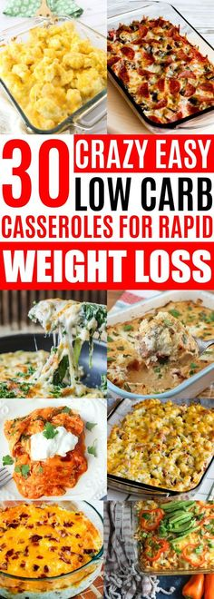 Low Carb Caserole Recipes, Keto Casseroles