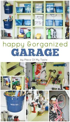 Garage, organized! Wow, what a project, glad it's done! After a lot of work, now you can come see the reveal of our happy and organized garage!