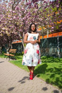 ASOS Off The Shoulder Midi Prom Dress in Botanical Floral
