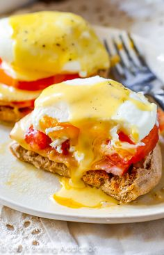 Sunday Morning Eggs Benedict.