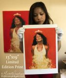"""BUY Fine Art Prints of my original 18""""x24"""" oil painting with gold leaf."""