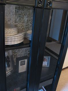 TUTORIAL: TRANSFORMING A CHEAP BOOKCASE INTO A GLASS DOOR CABINET WITH DECORATIVE BACKING