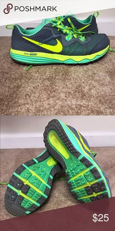 Women's Nike sneakers Nike Dual Fusion sneakers. Gray, bright green and mint color. Nike Shoes Sneakers