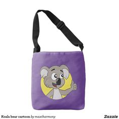 Koala bear cartoon tote bag