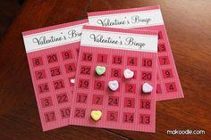 handmade bingo cards- 15 Valentine's Day Free Printables - ParentMap