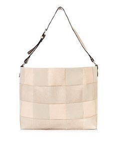 White Stripe Canvas Slouch Tote Bag | Striped canvas and Tote bag