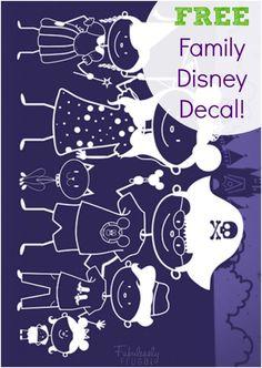 FREE Disney Family Decal!