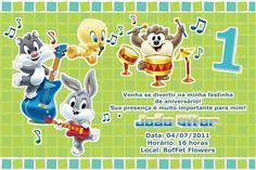 Convite digital personalizado Baby Looney Tunes 013