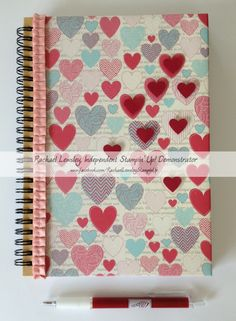 More Amore journal w/Small Heart punch outs