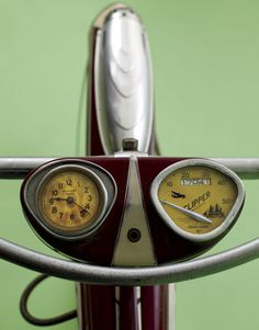 Bicycle Speedometer:     THE MOST SOUGHT-AFTER VINTAGE BIKES: 1950S CRUISERS, 1960S STINGRAYS SPEEDOMETER & CLOCK 1937 Columbia Westfield