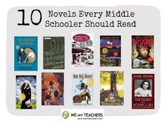 The Best Books to Teach in Middle School The Ultimate Big Kid Reading List Middle School Novels, Middle School Libraries, Middle School Reading, Middle School English, Kids Reading, Teaching Reading, Teaching Ideas, Teaching Tools, Learning