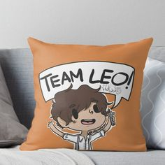 Super soft and durable spun polyester Throw pillow with double-sided print. Cover and filled options. Percy Jackson Quotes, Percy Jackson Fan Art, Percy Jackson Fandom, Magnus Chase, Solangelo, Percabeth, Oncle Rick, Team Leo, Rick Riordan Books