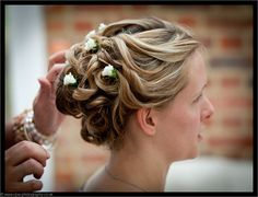 Relaxed, tousled updo