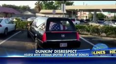 Two hearse drivers have been fired for making a pit stop at a Dunkin' Donuts while carrying the body of a war hero.