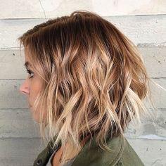 Textured & Layered Bob Haircut