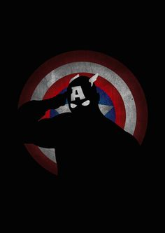 Captain America Shadow Art from Lily's Factory (http://lilysfactory.fr/), a French graphic artist