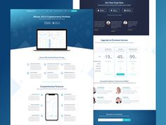 Cryptocurrency Landing Page by Marcel Mädche