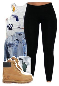 """""""$$$$$, not feelings """" by lovebrii-xo ❤ liked on Polyvore featuring VILA, Timberland, women's clothing, women, female, woman, misses and juniors"""