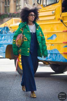 Julia Sarr-Jamois Street Style Street Fashion Streetsnaps by STYLEDUMONDE Street Style Fashion Photography