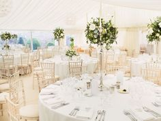 Fiona Perry specialises in creating show-stopping arrangments. Image © David Jenkins. #weddingtables #weddingflowers #wedding
