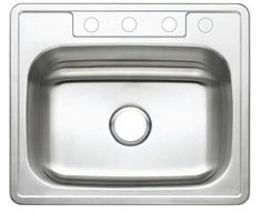 "Studio 22"" x 25"" Gourmetier Self Rimming Single Bowl Kitchen Sink Kingston Brass http://www.amazon.com/dp/B007BT058U/ref=cm_sw_r_pi_dp_Mka1tb0P5TG3NW8R"